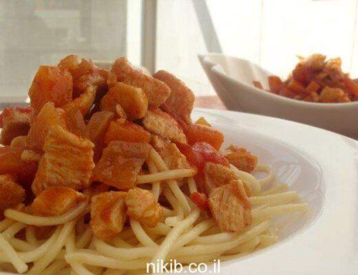 ספגטי בולונז עם חזה עוף