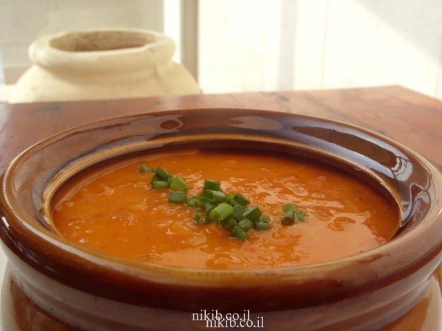 מרק עגבניות ושיבולת שועל