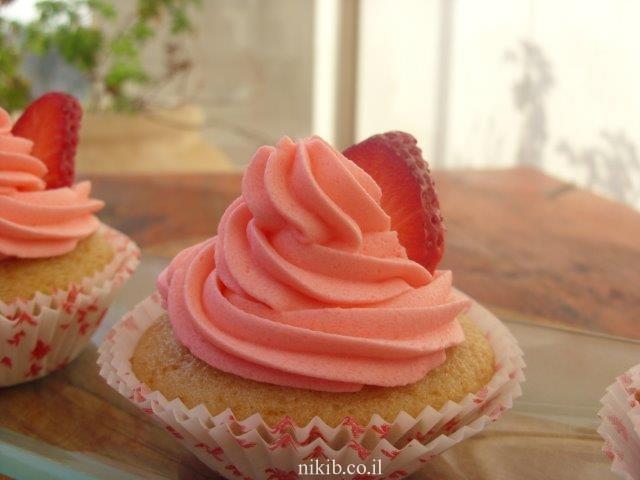 קאפקייקס תותים