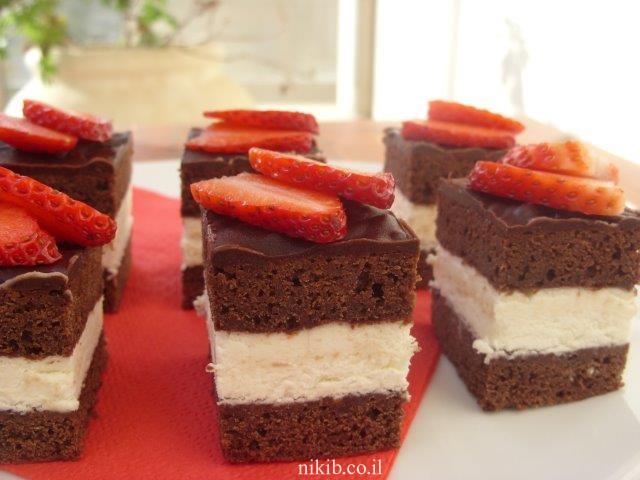 עוגת שכבות קלה להכנה