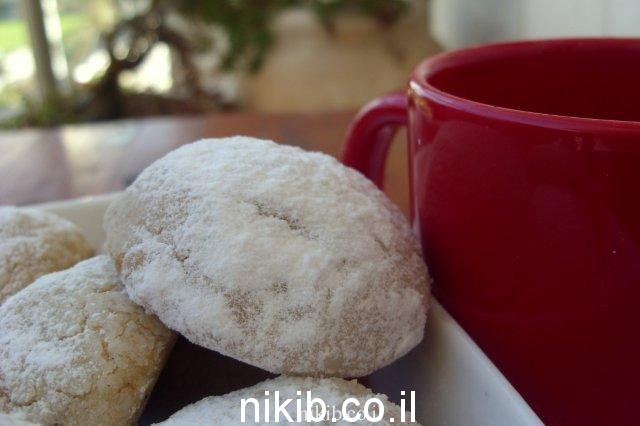 עוגיות אגוזי לוז נימוחות