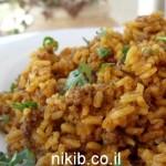 אורז עם בשר טחון בנוסח מזרחי