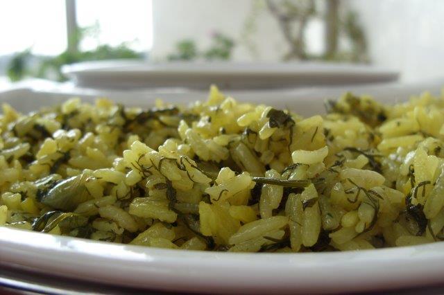 אורז ירוק צהוב
