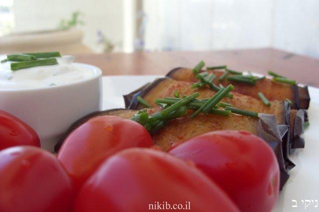 חצילים קלויים בתנור