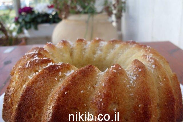 עוגת תפוזים ושיבולת שועל בחושה