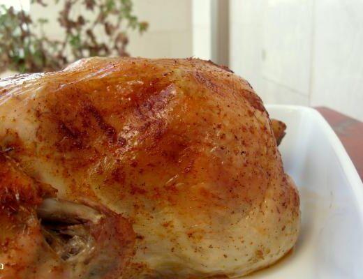 עוף ממולא בשר טחון ואורז