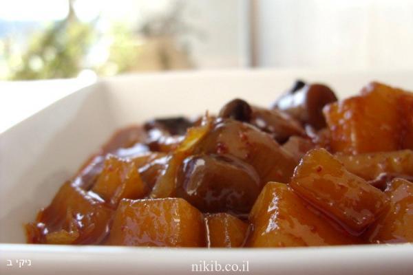 תפוחי עץ עם פטריות בדבש