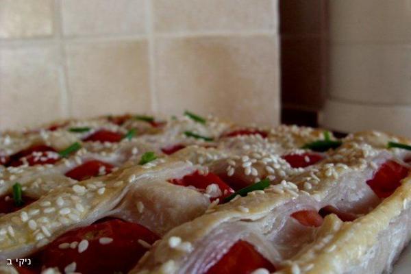 פשטידת בטטה ועגבניות