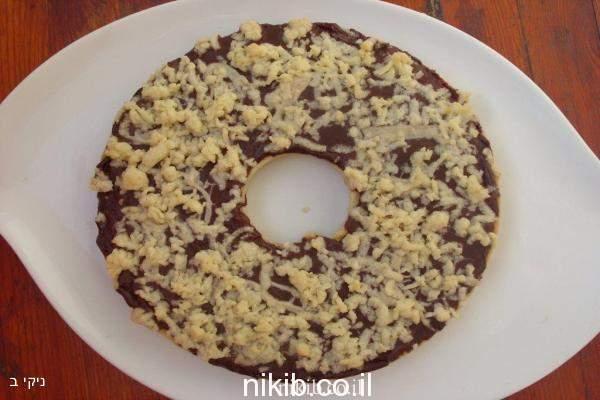 עוגת שוקולד ופירורים