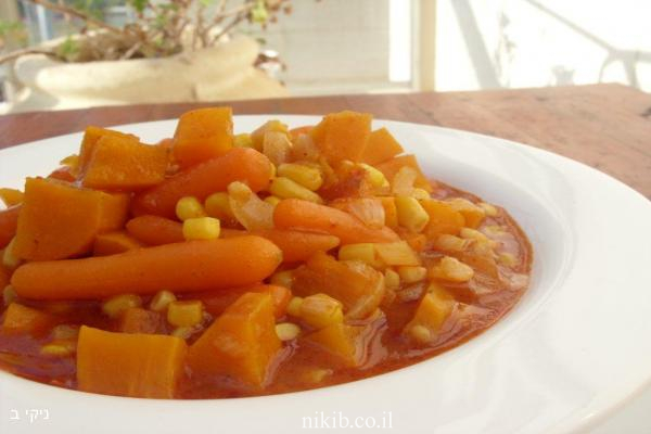 תבשיל ירקות במיקרו